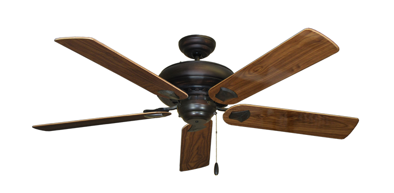 """Picture of Tiara Oil Rubbed Bronze with 56"""" Walnut Gloss Blades"""