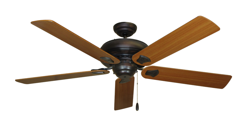 "Picture of Tiara Oil Rubbed Bronze with 60"" Teak Blades"