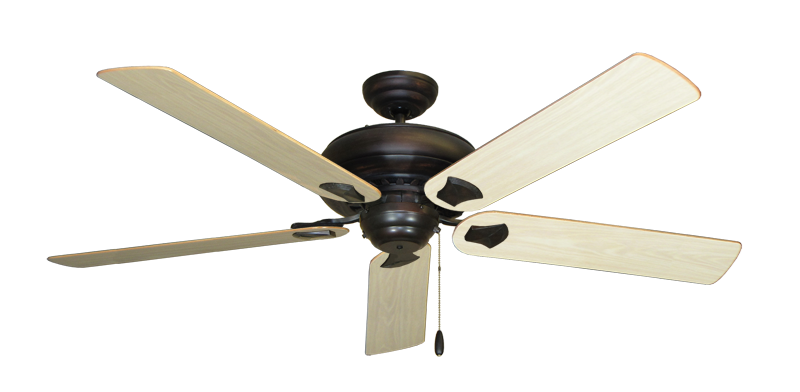 """Picture of Tiara Oil Rubbed Bronze with 60"""" Bleached Oak Gloss Blades"""
