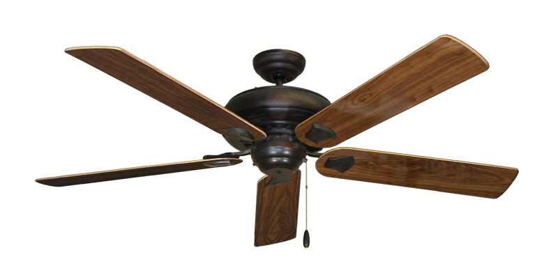 """Picture of Tiara Oil Rubbed Bronze with 60"""" Walnut Gloss Blades"""