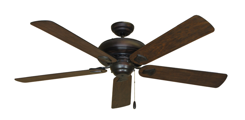 "Picture of Tiara Oil Rubbed Bronze with 60"" Distressed Walnut Blades"