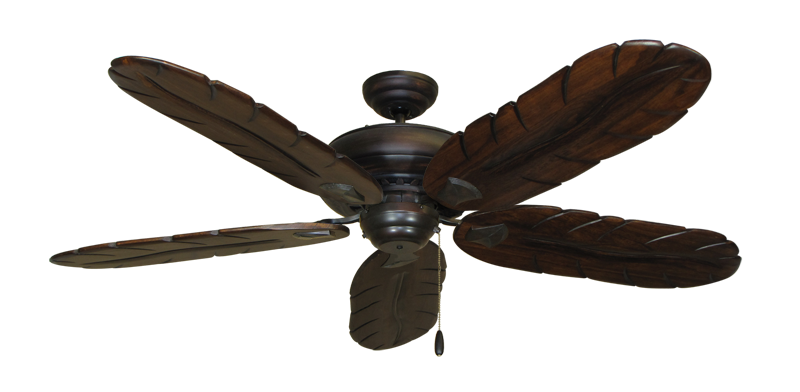 "Picture of Tiara Oil Rubbed Bronze with 58"" Series 500 Arbor Dark Walnut Blades"