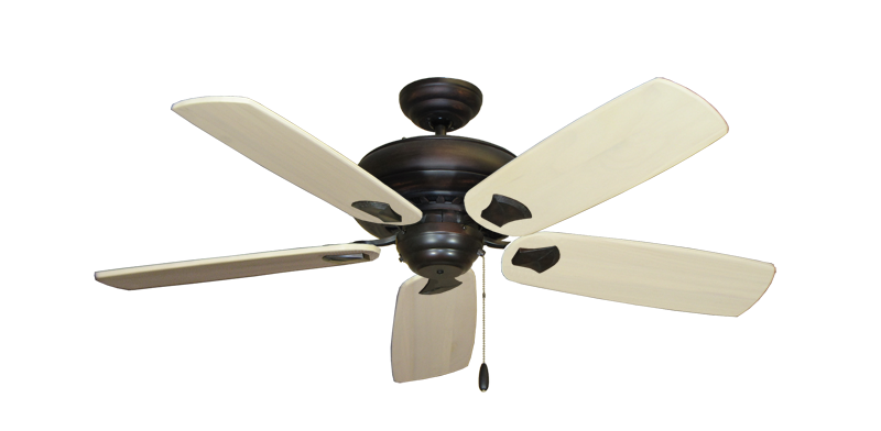"Picture of Tiara Oil Rubbed Bronze with 52"" Series 710 Arbor Whitewash Blades"