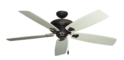 "Picture of Tiara Oil Rubbed Bronze with 60"" Series 725 Arbor Whitewash Blades"
