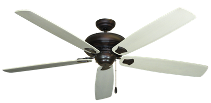 """Picture of Tiara Oil Rubbed Bronze with 72"""" Series 750 Arbor Whitewash Blades"""