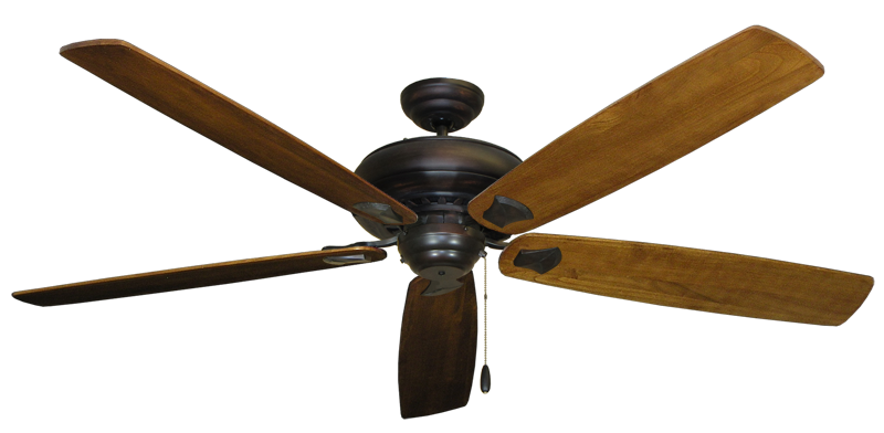 """Picture of Tiara Oil Rubbed Bronze with 72"""" Series 750 Arbor Oak Blades"""