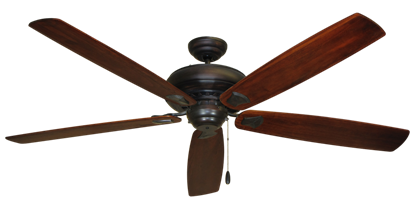 "Picture of Tiara Oil Rubbed Bronze with 72"" Series 750 Arbor Cherrywood Blades"