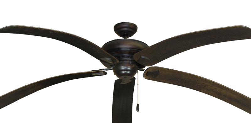 "Picture of Tiara Oil Rubbed Bronze with 80"" Bahama Bent Walnut Blades"