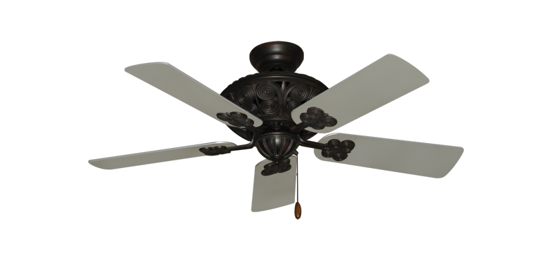 "Picture of Monarch Oil Rubbed Bronze with 44"" Satin Steel (painted) Blades"