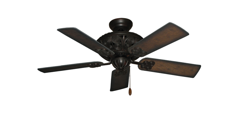"Picture of Monarch Oil Rubbed Bronze with 44"" Distressed Hickory Blades"