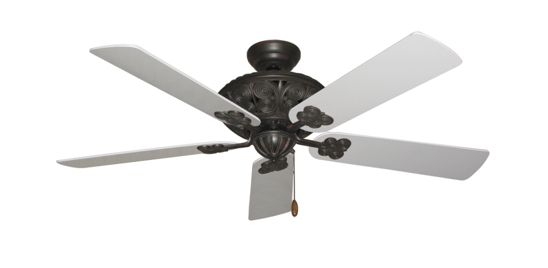 "Picture of Monarch Oil Rubbed Bronze with 52"" Pure White Blades"