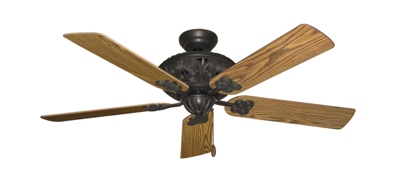 """Picture of Monarch Oil Rubbed Bronze with 52"""" Oak Gloss Blades"""