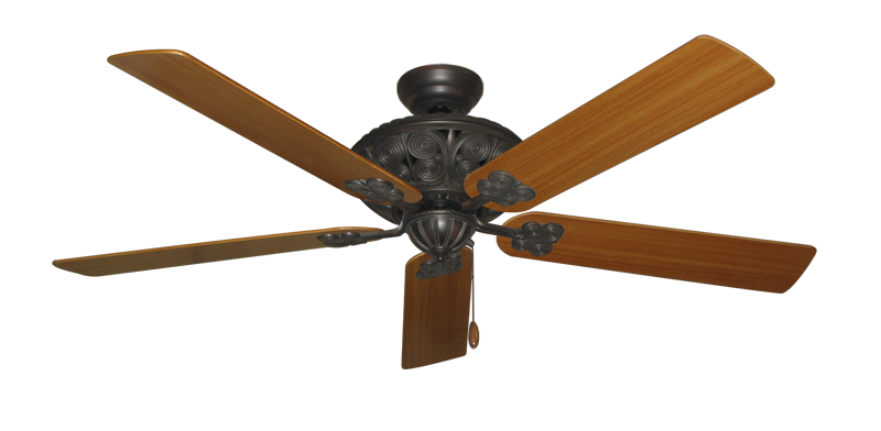 "Picture of Monarch Oil Rubbed Bronze with 60"" Teak Blades"