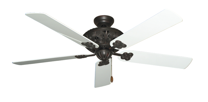"Picture of Monarch Oil Rubbed Bronze with 60"" Pure White Gloss Blades"