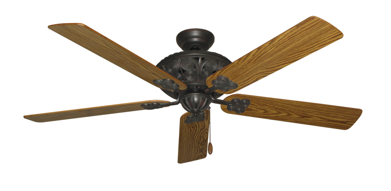"Picture of Monarch Oil Rubbed Bronze with 60"" Oak Gloss Blades"