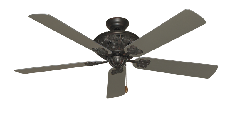 "Picture of Monarch Oil Rubbed Bronze with 60"" Satin Steel (painted) Blades"