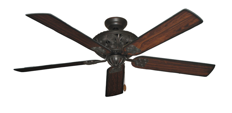 """Picture of Monarch Oil Rubbed Bronze with 60"""" Burnt Cherry Blades"""