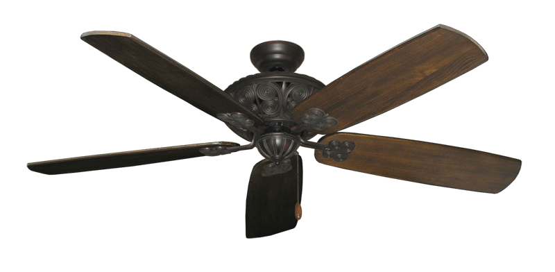 """Picture of Monarch Oil Rubbed Bronze with 60"""" Series 725 Arbor Dark Walnut Blades"""