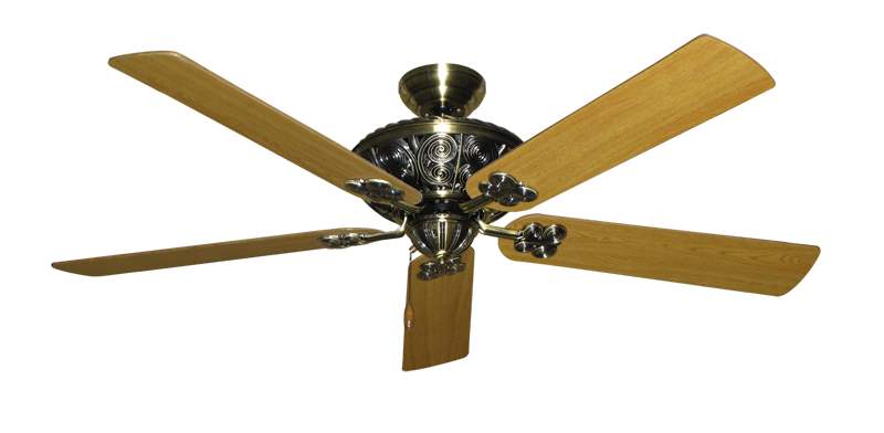 """Picture of Monarch Antique Brass with 60"""" Honey Oak Blades"""