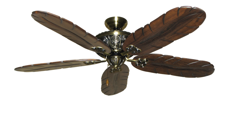 "Picture of Monarch Antique Brass with 58"" Series 500 Arbor Dark Walnut Blades"