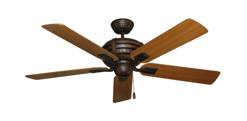 """Picture of Madeira Oil Rubbed Bronze with 52"""" Teak Blades"""