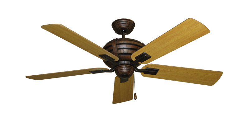 "Picture of Madeira Oil Rubbed Bronze with 52"" Honey Oak Blades"