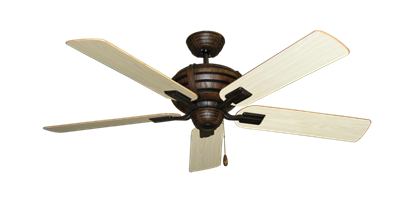 """Picture of Madeira Oil Rubbed Bronze with 52"""" Bleached Oak Gloss Blades"""