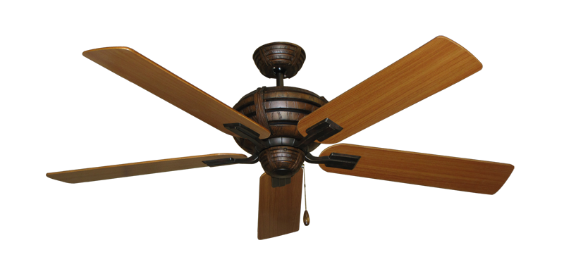 "Picture of Madeira Oil Rubbed Bronze with 56"" Teak Blades"