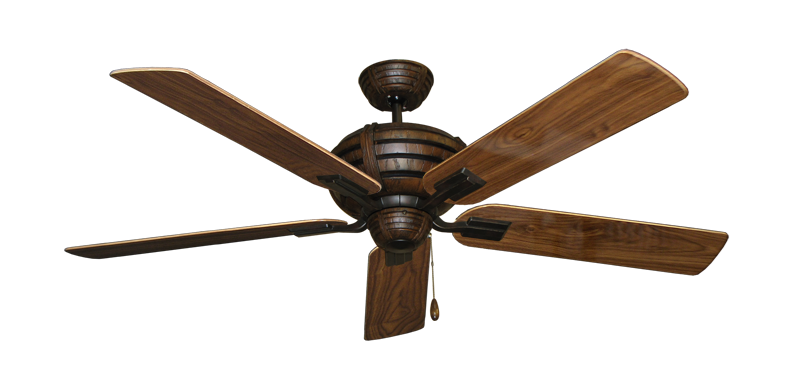"""Picture of Madeira Oil Rubbed Bronze with 56"""" Walnut Gloss Blades"""