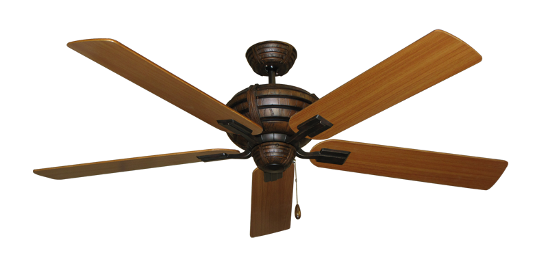 """Picture of Madeira Oil Rubbed Bronze with 60"""" Teak Blades"""