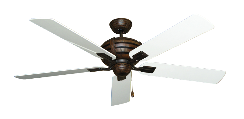 "Picture of Madeira Oil Rubbed Bronze with 60"" Pure White Gloss Blades"
