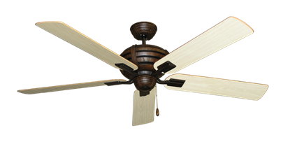 """Picture of Madeira Oil Rubbed Bronze with 60"""" Bleached Oak Gloss Blades"""