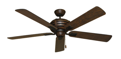 """Picture of Madeira Oil Rubbed Bronze with 60"""" Distressed Walnut Blades"""