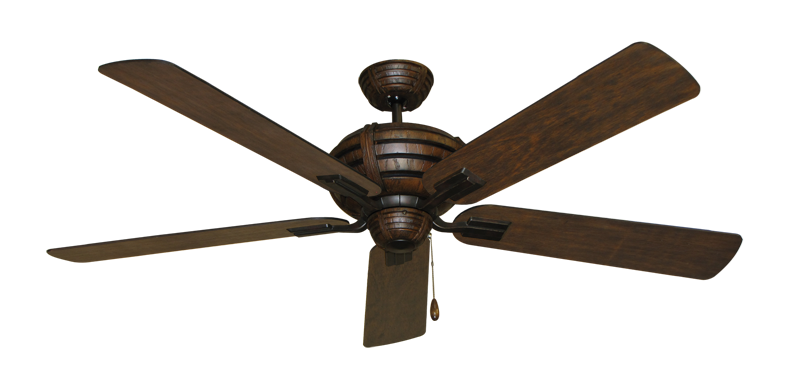 "Picture of Madeira Oil Rubbed Bronze with 60"" Distressed Walnut Blades"