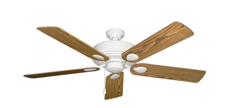 """Picture of Futura Pure White with 52"""" Oak Gloss Blades"""