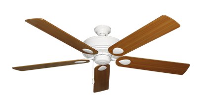 """Picture of Futura Pure White with 60"""" Teak Blades"""