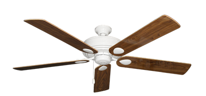 """Picture of Futura Pure White with 60"""" Walnut Gloss Blades"""
