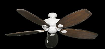 "Picture of Futura Pure White with 60"" Series 525 Arbor Dark Walnut Blades"