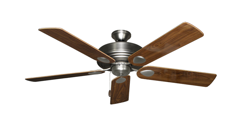 """Picture of Futura Satin Steel with 52"""" Walnut Gloss Blades"""