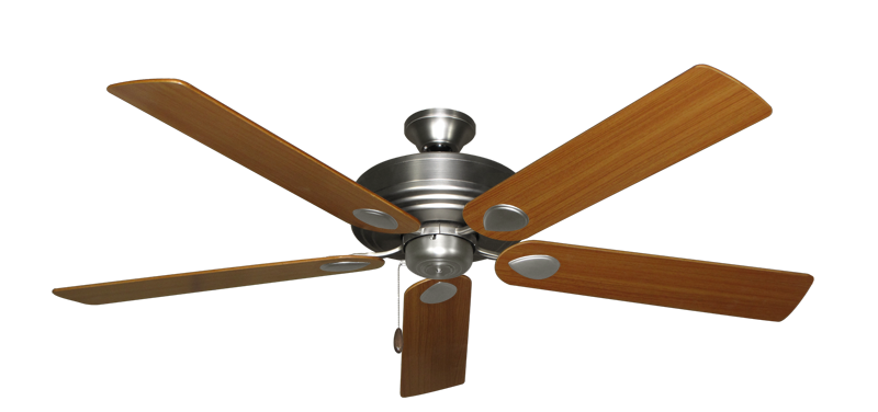 """Picture of Futura Satin Steel with 60"""" Teak Blades"""