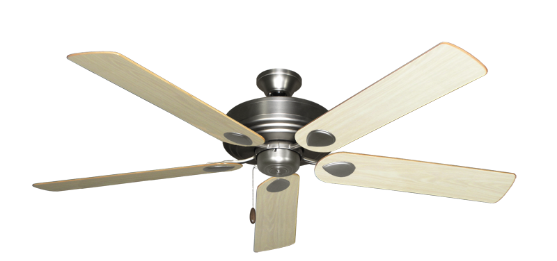 """Picture of Futura Satin Steel with 60"""" Bleached Oak Gloss Blades"""