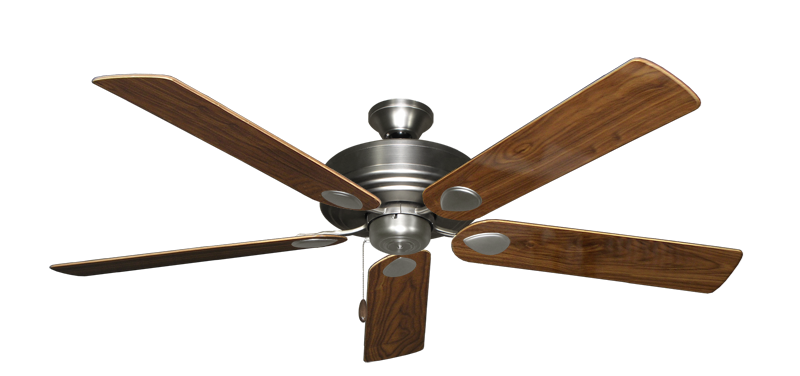 """Picture of Futura Satin Steel with 60"""" Walnut Gloss Blades"""