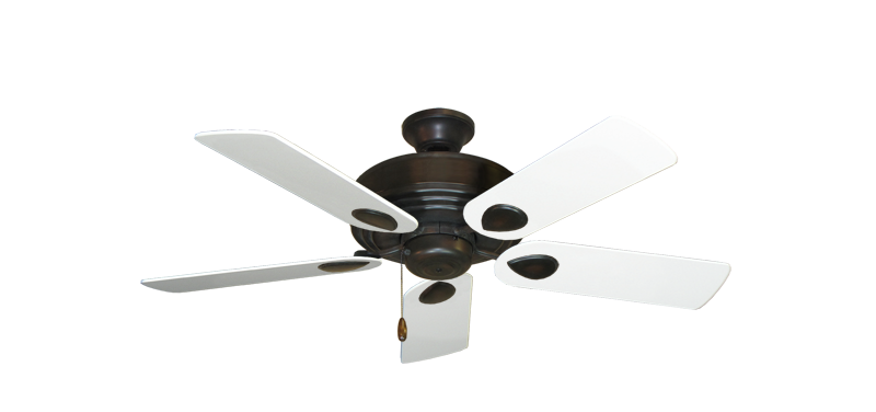 "Picture of Futura Oil Rubbed Bronze with 44"" Pure White Blades"