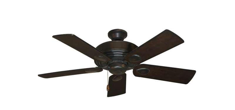 "Picture of Futura Oil Rubbed Bronze with 44"" Distressed Walnut Blades"