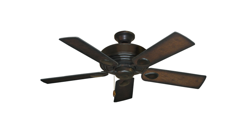 "Picture of Futura Oil Rubbed Bronze with 44"" Distressed Hickory Blades"