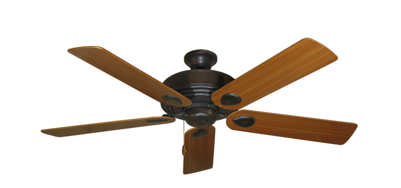 "Picture of Futura Oil Rubbed Bronze with 52"" Teak Blades"
