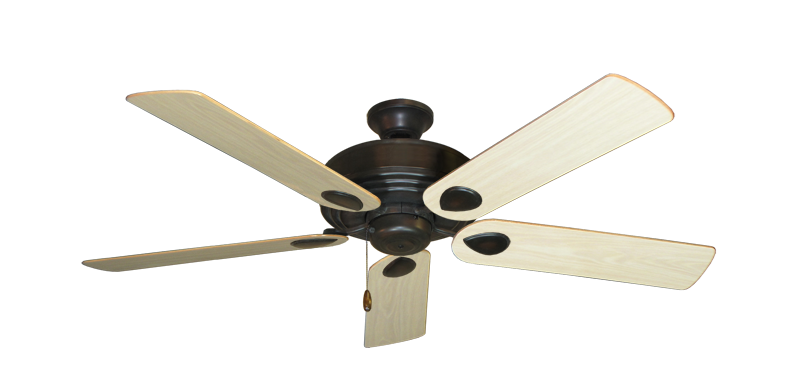 "Picture of Futura Oil Rubbed Bronze with 52"" Bleached Oak Gloss Blades"