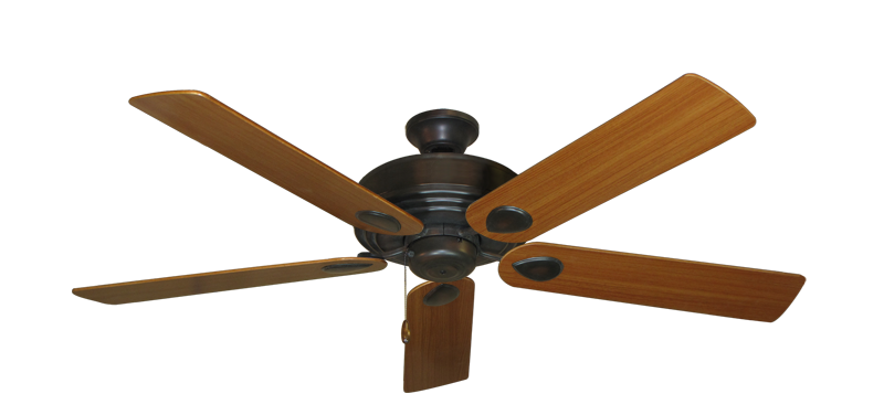 """Picture of Futura Oil Rubbed Bronze with 56"""" Teak Blades"""