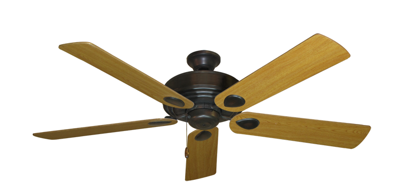 """Picture of Futura Oil Rubbed Bronze with 56"""" Honey Oak Blades"""