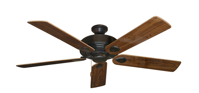 "Picture of Futura Oil Rubbed Bronze with 56"" Walnut Gloss Blades"